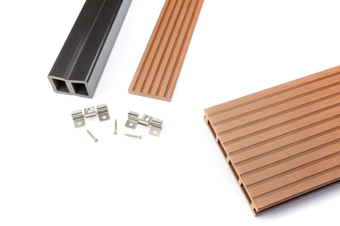 Composite deck building materials